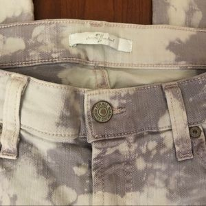 7 For All Mankind Jeans - 7 For All Mankind Acid Washed Skinny Cropped Denim
